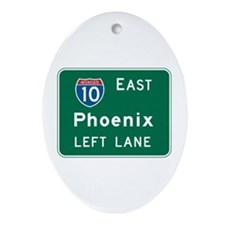 Phoenix, AZ Highway Sign Oval Ornament