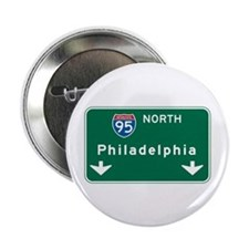 "Philadelphia, PA Highway Sign 2.25"" Button (10 pac"