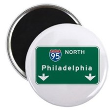 "Philadelphia, PA Highway Sign 2.25"" Magnet (100 pa"