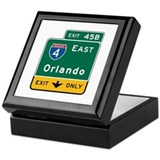 Orlando, FL Highway Sign Keepsake Box