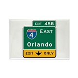 Orlando, FL Highway Sign Rectangle Magnet (10 pack