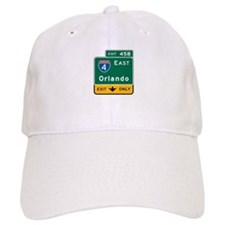 Orlando, FL Highway Sign Baseball Cap