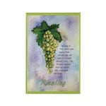 Riesling Wine Rectangle Magnet (10 pack)