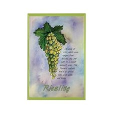 Riesling Wine Rectangle Magnet
