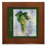 Riesling Wine Framed Tile