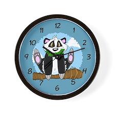 Jumping Panda Bear Wall Clock