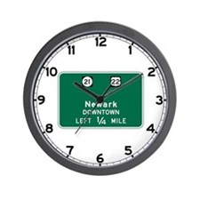 Newark, NJ Highway Sign Wall Clock
