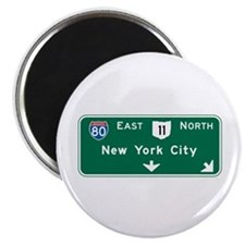 New York, NY Highway Sign Magnet