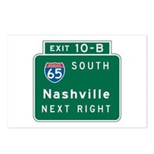 Nashville, TN Highway Sign Postcards (Package of 8