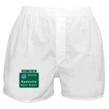 Nashville, TN Highway Sign Boxer Shorts
