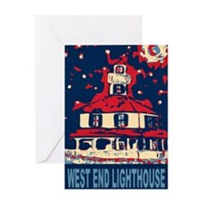 West End Lighthouse Blues Greeting Card