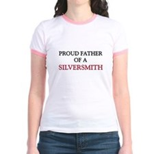 Proud Father Of A SILVERSMITH Jr. Ringer T-Shirt