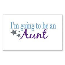 Going to be an Aunt Rectangle Decal
