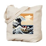 Cat art - just sitting Tote Bag