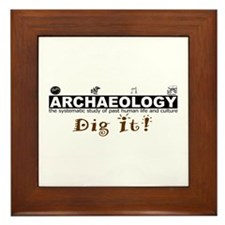 Archaeology, Dig It! Framed Tile