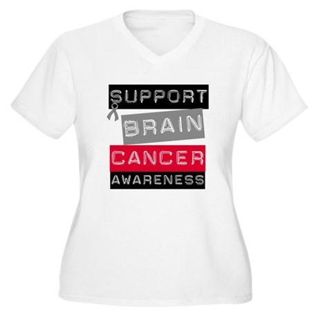 BrainCancerSupport Women's Plus Size V-Neck T-Shir