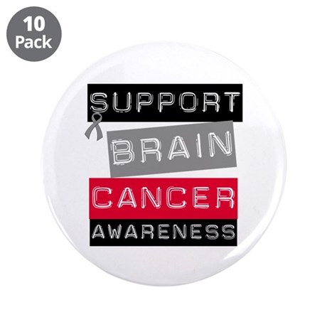 "BrainCancerSupport 3.5"" Button (10 pack)"