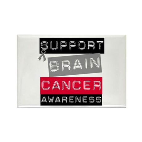 BrainCancerSupport Rectangle Magnet (10 pack)