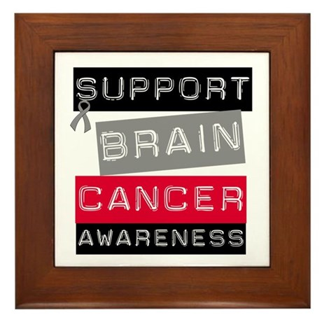 BrainCancerSupport Framed Tile