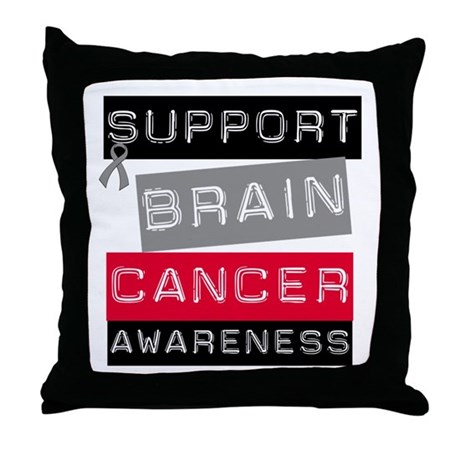 BrainCancerSupport Throw Pillow