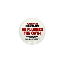 He Flubbed The Oath! Mini Button (100 pack)