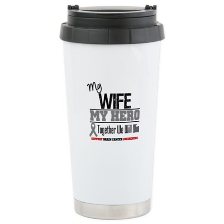 BrainCancerHero Wife Ceramic Travel Mug