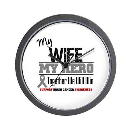 BrainCancerHero Wife Wall Clock