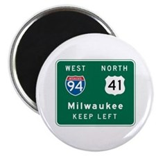 Milwaukee, WI Highway Sign Magnet