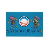 Amabo Obama Rectangle Magnet