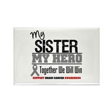BrainCancerHero Sister Rectangle Magnet