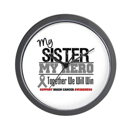 BrainCancerHero Sister Wall Clock