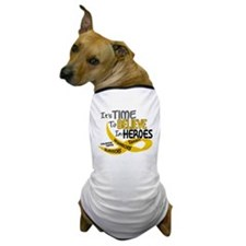Time To Believe CHILDHOOD CANCER Dog T-Shirt