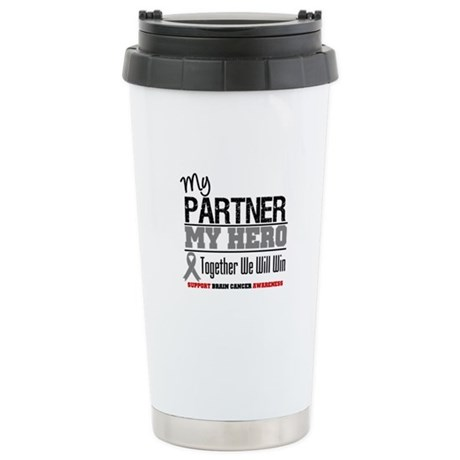 BrainCancerHero Partner Ceramic Travel Mug