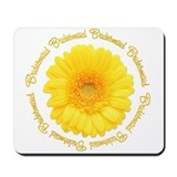 Yellow Daisy Junior Bridesmaid Mousepad