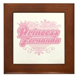 """Princess Fernanda"" Framed Tile"