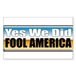 Yes We Did! Rectangle Sticker 10 pk)