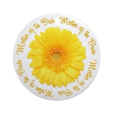 Yellow Daisy Mother of the Bride Ornament (Round)