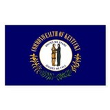 Kentucky State Flag Rectangle Sticker 10 pk)