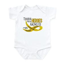 Heroes Among Us CHILDHOOD CANCER Infant Bodysuit