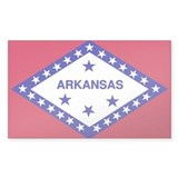 Arkansas State Flag Rectangle Decal