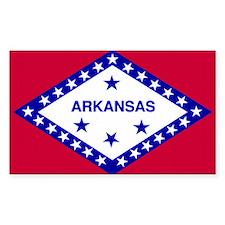Arkansas State Flag Rectangle Decal