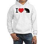 I love pussy Hooded Sweatshirt
