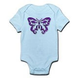 Purple butterfly Infant Bodysuit