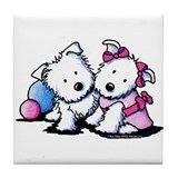 Westie Sweethearts Tile Coaster
