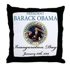 President Obama inauguration Throw Pillow