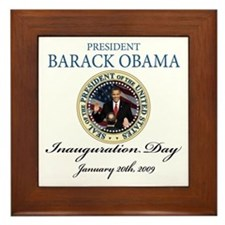 President Obama first black president Framed Tile