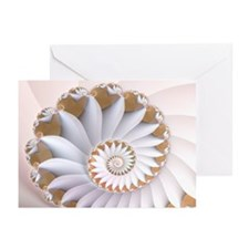 """White Nautilus"" Fractal Art Greeting Cards (Packa"