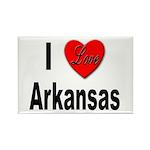 I Love Arkansas Rectangle Magnet (10 pack)