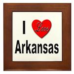 I Love Arkansas Framed Tile