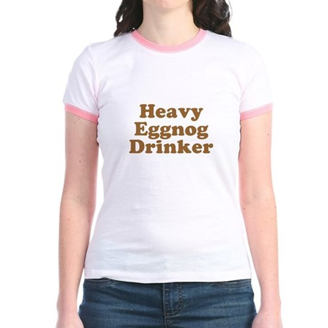 Heavy Eggnog Drinker Jr Ringer T-Shirt